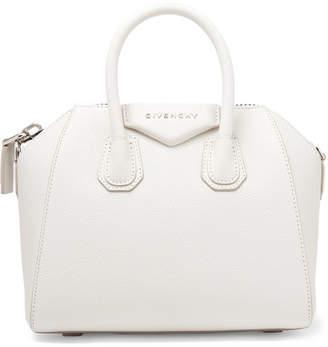 Givenchy Antigona Mini Textured-leather Tote - White