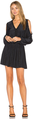 RAMY BROOK Maisie Embellished Cold Shoulder Dress $425 thestylecure.com