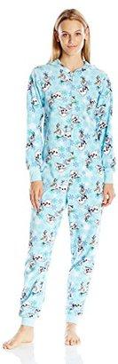 Disney Women's All-Over Print Olaf Onesie Pajama $60 thestylecure.com