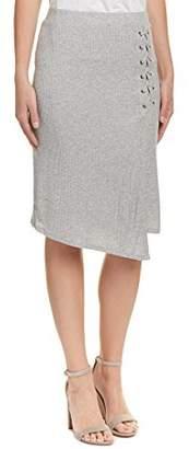 Splendid Women's Drapey Lux Rib Lace Up Skirt