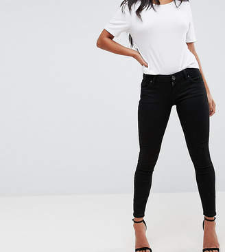 1a7b25e6a Asos DESIGN Petite Whitby low rise skinny jeans in clean black