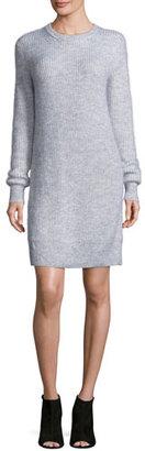 MICHAEL Michael Kors Wool-Blend Crewneck Sweater Dress, Pearl Heather $195 thestylecure.com