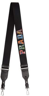 Prada Letter leather bag strap