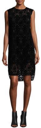 DKNY Sleeveless Lace Shift Dress, Black $598 thestylecure.com