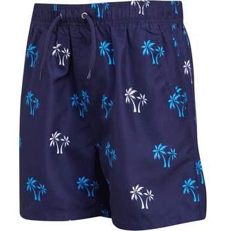 4a50754dd554c Kangaroo Poo Boys Palm Tree Print Swim Shorts Navy/Multi