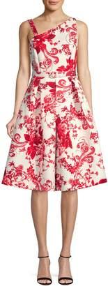 Gabby Skye Floral Fit Flare Midi Dress
