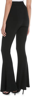 Cushnie et Ochs High-Waist Flared-Leg Pants with D-Ring Buckle