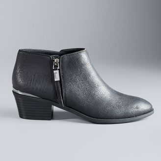 Simply Vera Vera Wang Women's Stacked-Heel Ankle Boots $69.99 thestylecure.com