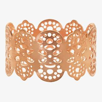 ABC Home Eyelet Napkin Ring Rose Gold