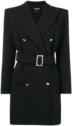 Tom Ford tailored double-breasted mini dress