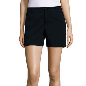 Liz Claiborne Woven Chino Shorts - Tall