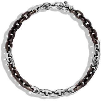 """John Hardy Dot Basic Ebony Link Necklace, 18"""""""