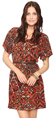 Love 21 Geometric Woven Dress