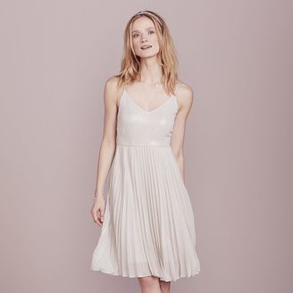 LC Lauren Conrad Dress Up Shop Collection Pleated Metallic Dress - Women's $80 thestylecure.com
