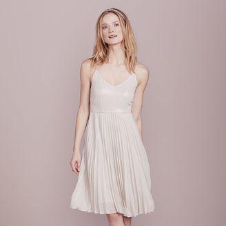 LC Lauren Conrad Dress Up Shop Collection Pleated Metallic Dress - Women's $80 thestylecure.com