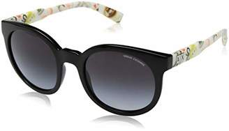 Armani Exchange Women's Injected Woman Round Sunglasses