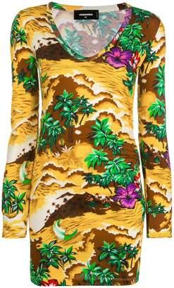 DSQUARED2 Hawaiian print dress