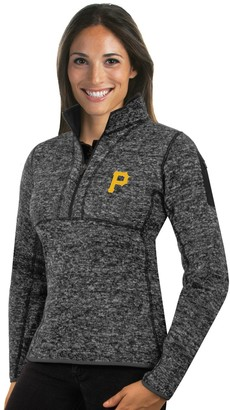 Antigua Women's Pittsburgh Pirates Fortune Midweight Pullover Sweater