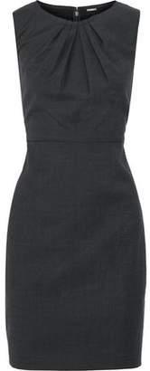 Elie Tahari Rosario Houndstooth Wool-Blend Mini Dress