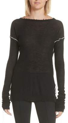 Helmut Lang Distressed Cashmere Sweater