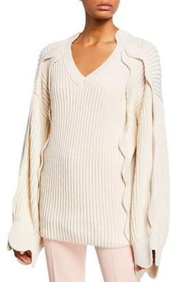 7f4a3404f23 Stella McCartney Chunky Scalloped-Sleeve Sweater