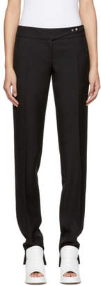 Paco Rabanne Black Pleats and Snaps Trousers