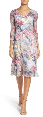 Women's Komarov Print A-Line Dress $308 thestylecure.com