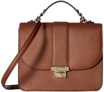 Calvin KleinCalvin Klein Key Items Saffiano Flap Satchel