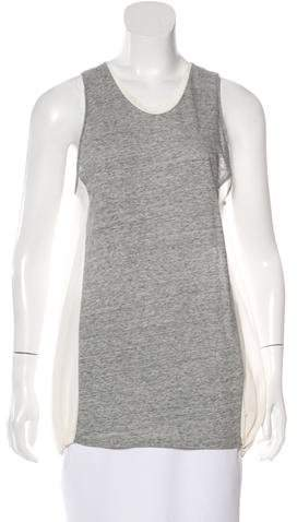 3.1 Phillip Lim 3.1 Phillip Lim Sleeveless Silk-Accented Top