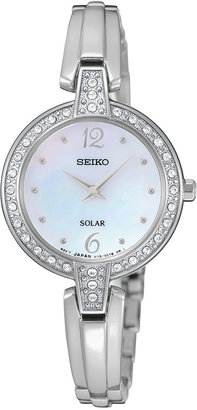 Seiko Women's Automatic Solar Stainless Steel Bracelet Watch 27mm SUP287 $250 thestylecure.com