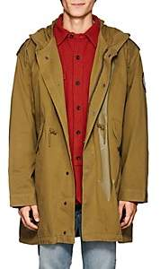 Zadig & Voltaire MEN'S BRUCE COTTON MILITARY PARKA - CAMEL SIZE L