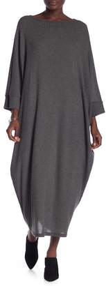 American Twist Ribbed Knit Dolman Dress