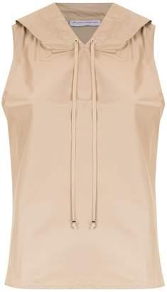 Gloria Coelho hooded nylon blouse
