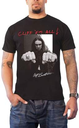 Burton Metallica T Shirt Cliff Fists Cliff em all new Official Mens