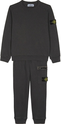 Stone Island Washed cotton tracksuit set 4-14 years $220 thestylecure.com