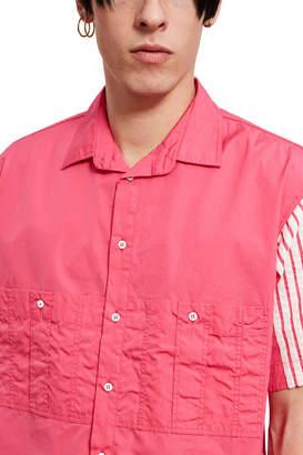 Dima Leu Stripe Short-Sleeve Shirt