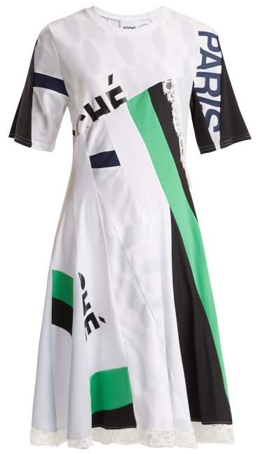 KOCHÉ X Paris Saint-Germain patchwork short-sleeved top
