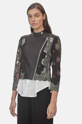 Yigal Azrouel Sea Shell Lace Moto Jacket