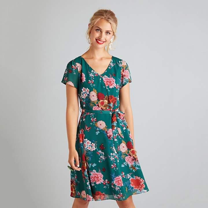Green Butterfly 'Eliani' Skater Dress