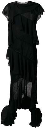 Philosophy di Lorenzo Serafini Asymmetrical ruffle embellished dress