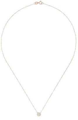 Rosegold Dana Rebecca Designs Lauren Joy 14K rose-gold mini disc diamond necklace