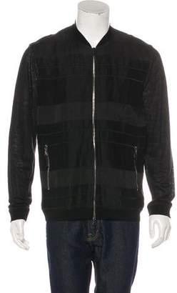 John Varvatos Linen Zip-Up Jacket