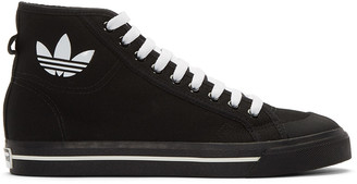 Raf Simons Black adidas Edition Matrix Spirit High-Top Sneakers $350 thestylecure.com