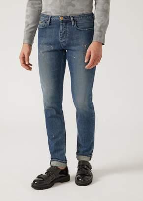 Emporio Armani J00 Slim Fit Stretch Cotton Denim Jeans