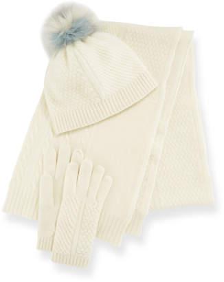 Portolano Cashmere Hat Scarf & Gloves Set