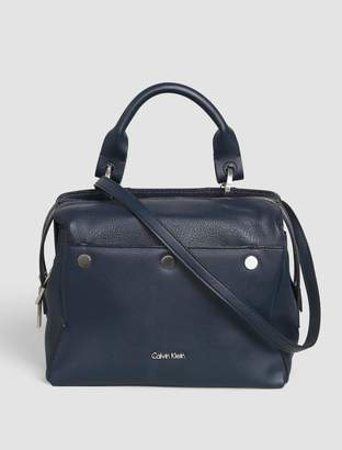 Calvin Klein panel medium satchel