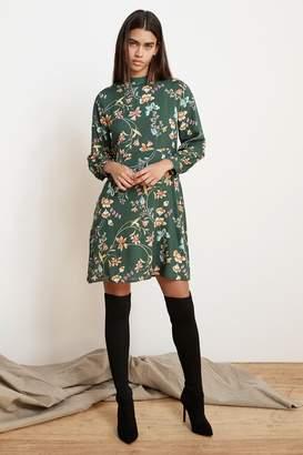 Velvet by Graham & Spencer JULIET PRINTED FLORAL MOCK NECK DRESS