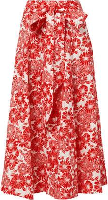 Lisa Marie Fernandez Floral Beach Midi Skirt