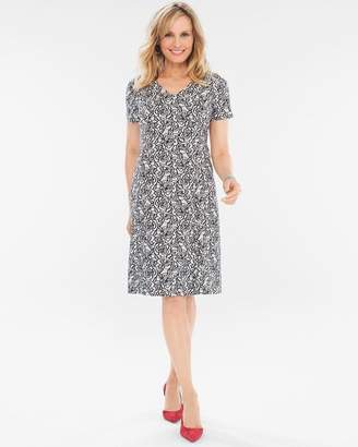 Chico's Chicos Floral Jacquard Dress