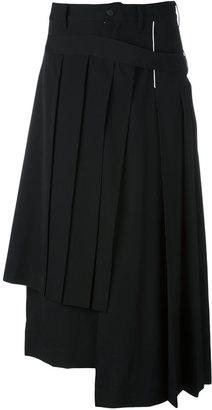 Yohji Yamamoto wrapped pleated skirt $1,830 thestylecure.com